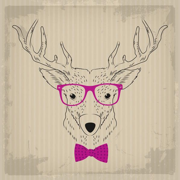 картинка олень в очках аудио-поздравление, озвученное